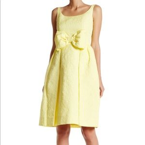 kate spade Dresses - Kate Spade Yellow Tavor jacquard floral bow dress